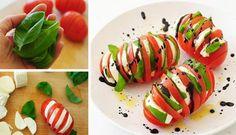Milujete Caprese šalát? Vylepšite si tento jednoduchý recept a vyskúšajte naše osviežujúce caprese jednohubky podľa fotopostupu: http://www.tojenapad.sk/fotopostup-osviezujuce-caprese-jednohubky/#prettyPhoto  To je nápad! #caprese #jednohubky #mozarella #paradajky #tomatoes #recept #recipe #canap #tojenápad