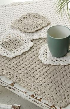 Ravelry: Options Placemat and Coaster pattern by Marilyn Coleman