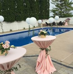 Wedding Decorations, Table Decorations, Pool Days, Cocktail Tables, Banquet, Reception, Events, Pretty, Weddings