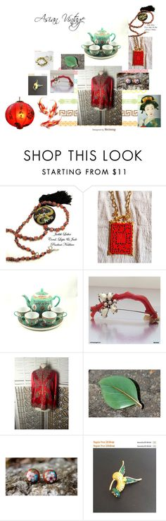 """""""Asian Vintage"""" by hbjewelry on Polyvore featuring Judith Leiber, Gump's and vintage"""
