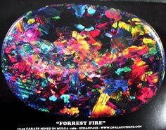 """""""forrest fire"""" Black Opal"""