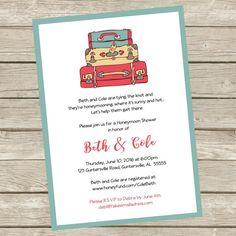 honeymoon shower invite wedding invitation invite
