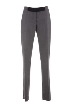 An elegantly tailored straight leg pant that sits just above the hips is a work wardrobe essential. With detailed contrast waistband this pant can be worn Work Wardrobe Essentials, Spring Summer 2015, Straight Leg Pants, Online Boutiques, Tweed, Trousers, Sweatpants, Wool Fabric, Clothes For Women