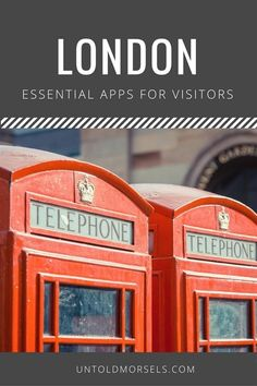 London apps - useful apps for visitors to London #TravelTips