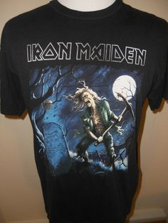 Iron Maiden Rock Band Shirt #plaidgoat #rockbandshirts #nostalgia