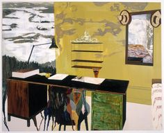 How Green Was my Valley - Mamma Andersson, Karin - New-Figuration / New-Academism - Oil on wood - Still Life - TerminArtors
