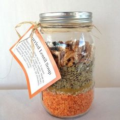 Christmas Gifts in a Jar - Curried Lentil Soup  - Click pic for 25 DIY Christmas Gifts