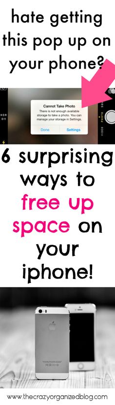 Do you run out of space on your iphone???? 6 SURPRISING tips to free up space, especially tip #4!!