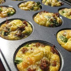 Omlet Muffins...these are soo good added onion and red peppers along with mushrooms,sausage and cheese   yummmmy