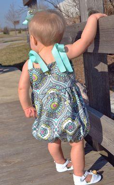 Easy Baby Girl Sewing Pattern  The Bryn Romper by MyLittlePlumcake, $6.50