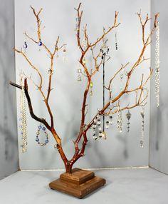 Jewelry Tree  Large Manzanita  1095 by RedBarkDesigns on Etsy, $42.00