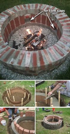 30 Amazing DIY Backyard Fire Pits Design Ideas - Fire Pit - Ideas of Fire Pit - Forno e churrasqueiras Garden Fire Pit, Diy Fire Pit, Fire Pit Backyard, Backyard Patio, Diy Patio, Outdoor Fire Pits, Backyard Seating, Outdoor Landscaping, Outdoor Decor
