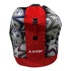 65688a6348 Details about Star training Football Mesh Sack Sports Ball Net Bag Soccer  Volleyball 15 Balls