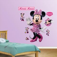 Minnie Mouse Fathead wall decorations