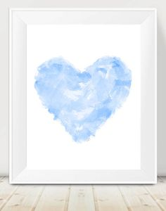 Blue Modern Nursery Decor, Contemporary Nursery Decor, Light Blue Nursery Art, Blue Abstract Art, 11x14 Print, Modern Nursery Art, Pastel