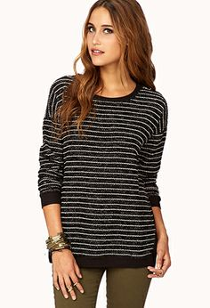 Dressed Up Striped Sweater | FOREVER21 - 22.80 Christmas wish list Size medium