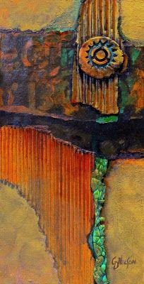 "CAROL NELSON FINE ART BLOG: Abstract Mixed Media Art ""Medallion 2"" by Colorado…"