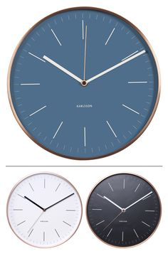 Karlsson | Wall Clock Watch (copper colored housing) | design by BOX32 Design