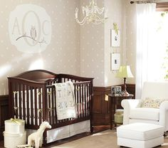 Madison Fixed Gate 3-in-1 Crib | Pottery Barn Kids. Like the uni colors in here as well. The dark wood isn't too strong and could work for a girl too.