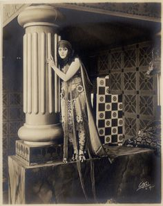 Theda Bara from Salome by Albert Witzel Studio;presumed lost: Soyouthinkyoucansee on tumblr; fox-studio 1918