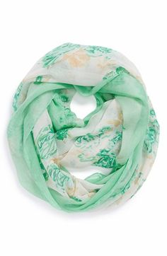David & Young 'Rose' Floral Infinity Scarf (Juniors) | Nordstrom
