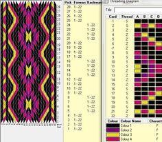 Spunknit's Yoga Mat Strap - Herzlich willkommen Loom Yarn, Loom Weaving, Tablet Weaving Patterns, Loom Patterns, Art Du Fil, Inkle Loom, Card Weaving, Willow Weaving, Weaving Projects