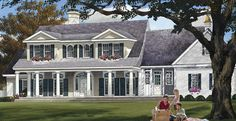 Plantation House Plan with 2994 Square Feet and 3 Bedrooms from Dream Home Source | House Plan Code DHSW076862