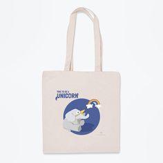 Esta bolsa de tela es una declaración de intenciones. Dile al mundo con este elefante disfrazado de unicornio que sea feliz a su manera.