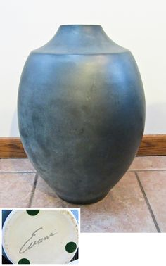 Large Sculptural Raku Floor Vase by Tony Evans Pottery Tony Evans, Floor Vases, Midcentury Modern, Ceramic Pottery, Mid Century, Sculpture, Flooring, Ceramics, Home Decor