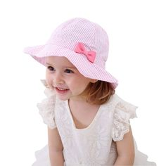 Toddler Kids Baby Girl Breathable Sun Hat Cotton Foldable 50 SPF Protective d63d94138a70