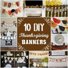 DIY Thanksgiving Banners and garlands