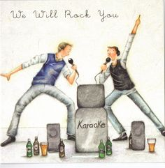 We Will Rock You Berni Parker Designs Card