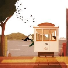 Riding on a cable car in San Francisco you truly feel alive! The print is on lovely, matte Epson paper - the paper is archival, water-res..