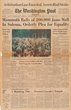 The Blaze blog - The front pages of August 29, 1963:  The Washington Post