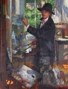 Peter Kuhfeld, Self Portrait, Medium, Oil on Canvas, Modern Art, Contemporary, Oil On Canvas, Portrait, Medium, Painting, Headshot Photography, Painting Art, Portrait Paintings