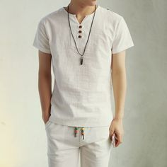 2016 New Summer Style Mens Short Sleeve Linen T shirt  Tee Shirts short sleeve T-shirt men fashion t shirt wholesale