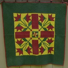 c. 1860 crib quilt, Lancaster Country, PA, eBay, thegreateststuffonearth