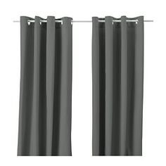 IKEA - MERETE, Curtains, 1 pair, , The thick curtains darken the room and provide privacy by preventing people outside from seeing into the room.The eyelet heading allows you to hang the curtains directly on a curtain rod. Ikea Curtains, Thick Curtains, Drop Cloth Curtains, Burlap Curtains, Floral Curtains, Curtains Living, Room Darkening Curtains, Velvet Curtains, Curtains With Blinds