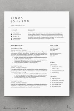 Show the recruiters that you keep up with the latest trends by choosing our modern resume template. It is always easy  to fill out. Save effort. If you are not satisfied with the arrangement, you can modify it to best suit your individual.  #jobsearch #basicresume #jobsearchtips #cvtemplate #cv #SimpleResume #MinimalistResume #job #career #ProfessionalResume Basic Resume Examples, Simple Resume, Nursing Resume Examples, Job Resume Template, Modern Resume Template, Cv Template, Visual Resume, Sales Resume, Executive Resume