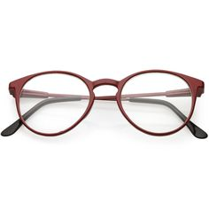 2ff4685181 True Vintage Indie Round Clear Lens Horned Rim Glasses C675