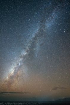 Milky Way, with the island of Lanai bottom right