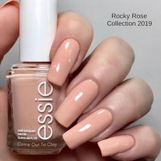 This is Come Out To Clay from Essie Rocky Rose 2019 Collection (4/9) The whole collection has the similar, very good formula - it is cream, opaque in 1coat (depending on your application) - it stamps well on a light and is visible on a dark background