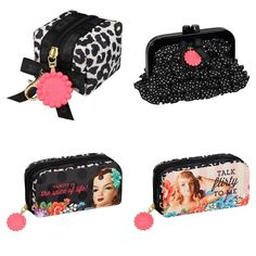 The Benefit Cosmetics X Lesportsac is a new collaboration for Spring/Summer 2014 that's entitled the Giggle Me Gorgeous Collection and available now at Benefit Makeup, Benefit Cosmetics, Makeup Obsession, Spring Collection, Beauty Hacks, Beauty Tips, Cosmetic Bag, Classic Style, Floral Prints