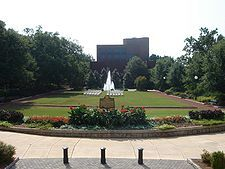 Herty Field, in the center of North Campus, was UGA's first home football field (University of Georgia, Athens, Georgia, USA)