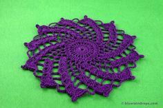Spiral Crochet Pattern, Free Crochet Doily Patterns, All Free Crochet, Crochet Round, Crochet Motif, Crochet Designs, Easy Crochet, Crochet Ideas, Crochet Coaster