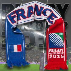 France - Rugby WC 2015 Scarf Ideal Gift for all Rugby Fans Scarf Dimensions x approx Brand New with Tags - Header Card Official Licensed Irb Rugby, France Rugby, Rugby World Cup, Header, Fans, Gifts, Favors, Followers, Fan