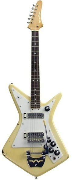 1962 Wurlitzer Gemini  #LardysChordophoneOfTheDay #Guitar ~ https://www.pinterest.com/lardyfatboy/lardys-other-fretted-chordophones-of-the-day/ ~ I believe it had stereo pickups