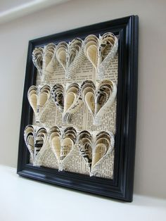 Home decor out of newspapers or scrapbook paper that mimics newspapers.
