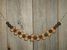 "34"" Long Gourd & Walnut Garland for Primitive, Early, Cabin, Farm, Home Decor #NaivePrimitive"