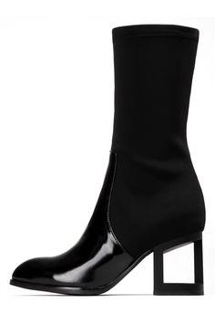 Jeffrey Campbell Shoes KRUPA-MHH Boots in Black Box Bk Nprn Blk Mt